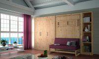 LIt escamotable en bois + canapé
